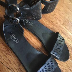 Coach Laser Cut Ankle Cuff Sandal